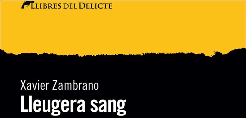 """Presentació del llibre """"Lleugera sang"""" de Xavier Zambrano."""