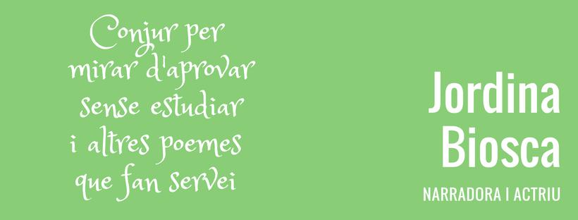 Rectangle verd amb el títol de l'activitat i nom de l'artista