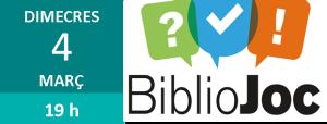 """Imatge amb enllaç a l'activitat """"Bibliojoc"""""""