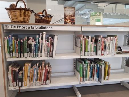 Imatge de la secció De l'hort a la biblioteca ubicada a la segona planta