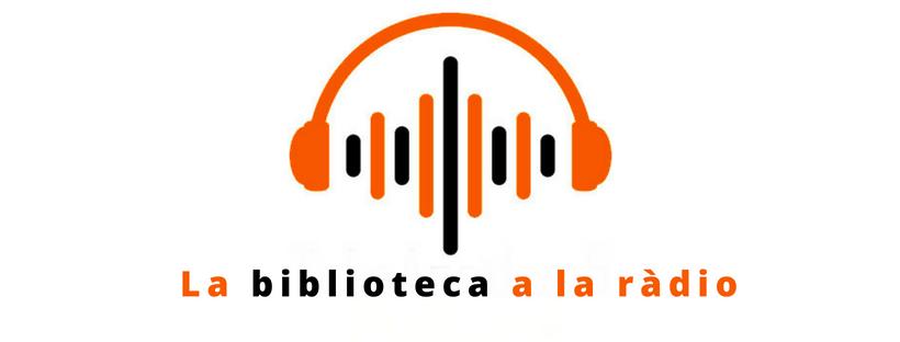 Dibuix d'auriculars i text La biblioteca a la ràdio