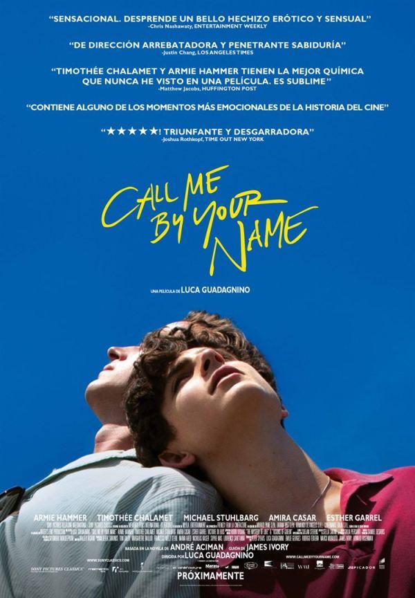 Cartell de la pel·lícula Call me by your name