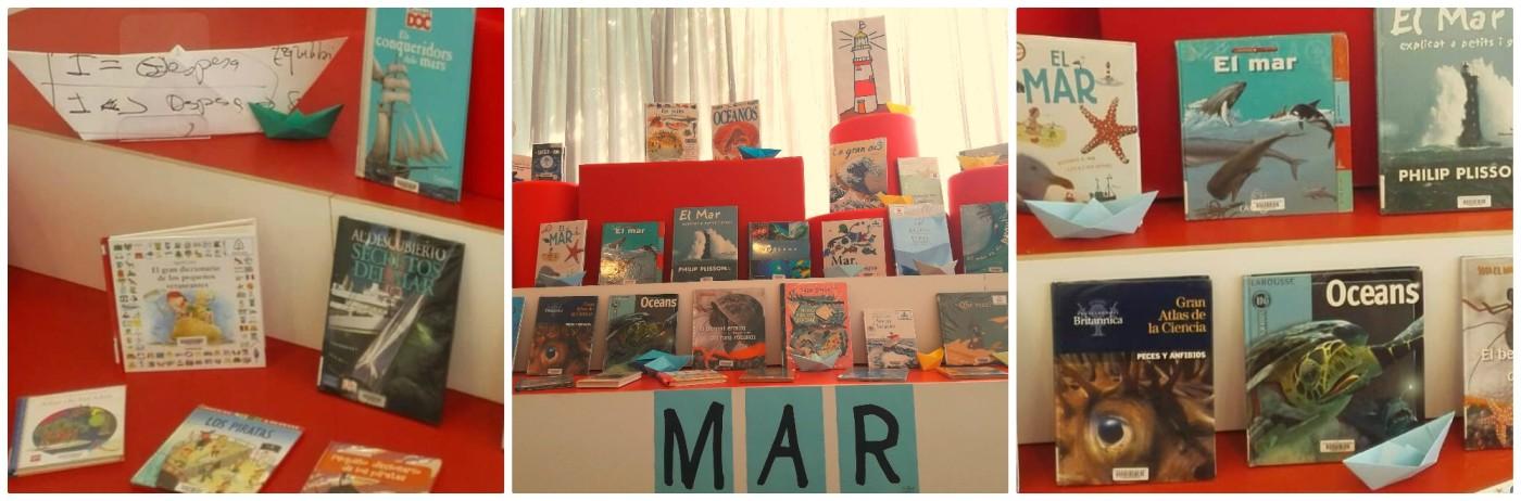 Fotografies de l'exposició de llibres del mar