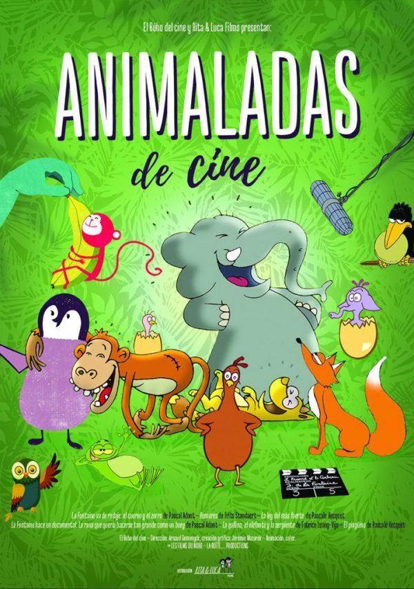 Imatge del cartell de la pel·lícula infantil Animalades de cine