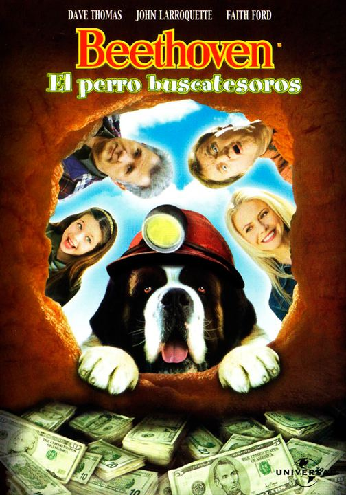 Imatge del cartell de la pel·lícula infantil Beethoven. El perro buscatesoros