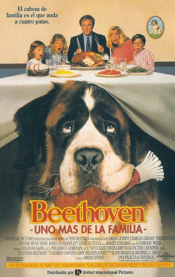 Imatge del cartell de la pel·lícula infantil Beethoven. Uno más de la familia