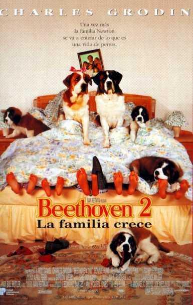 Imatge del cartell de la pel·lícula infantil Beethoven 2. La familia crece