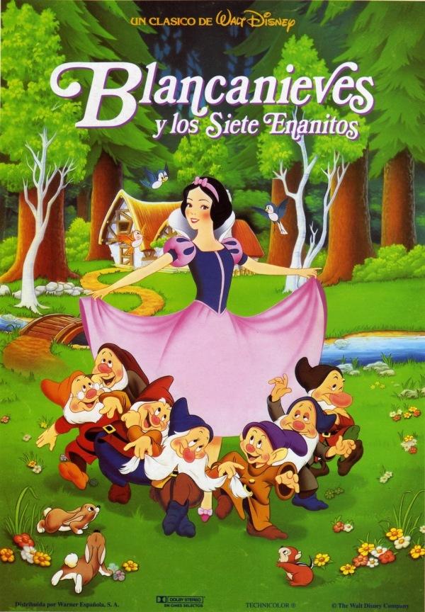 Imatge del cartell de la pel·lícula infantil Blancanieves y los siete enanitos