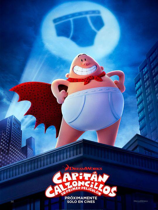 Imatge del cartell de la pel·lícula infantil Capintán calzoncillos
