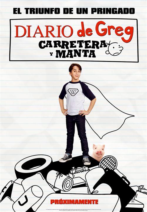 Imatge del cartell de la pel·lícula infantil Diario de Greg. Carretera y manta
