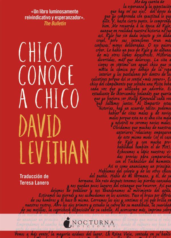 Imatge de la portada de la novel·la juvenil Chico conoce a chico