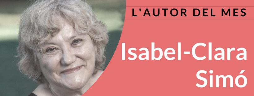 Imatge de l'autor del mes de juliol: Isabel-Clara Simó