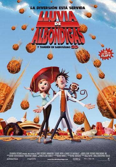 Imatge del cartell de la pel·lícula infantil Lluvia de albóndigas