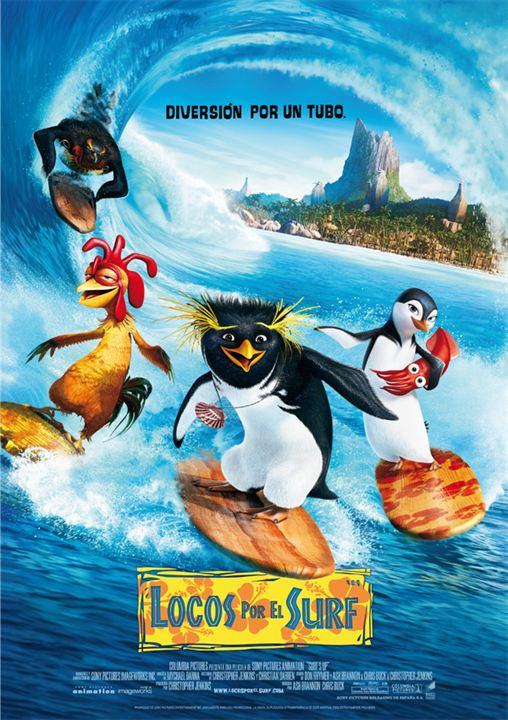 Imatge del cartell de la pel·lícula infantil Locos por el surf