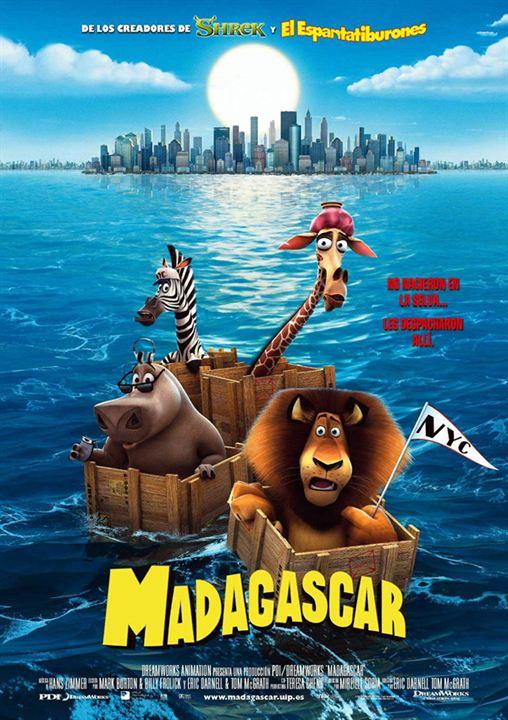 Imatge del cartell de la pel·lícula infantil Madagascar