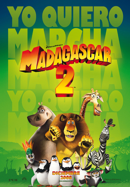 Imatge del cartell de la pel·lícula infantil Madagascar 2