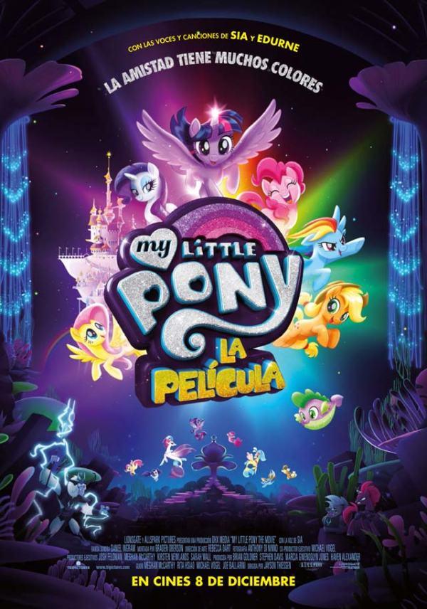 Imatge del cartell de la pel·lícula infantil My little Pony