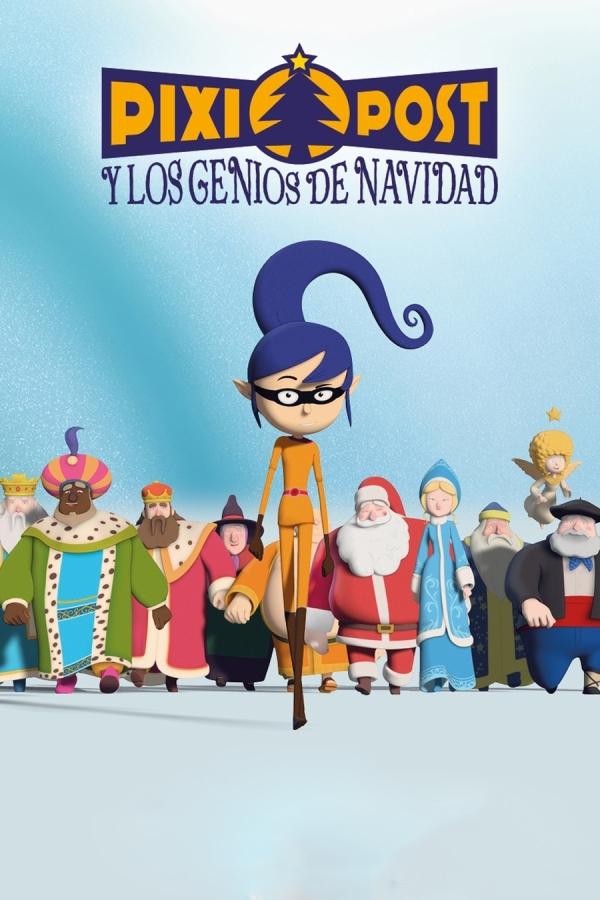 Imatge del cartell de la pel·lícula infantil Pixi Post y los genios de Navidad