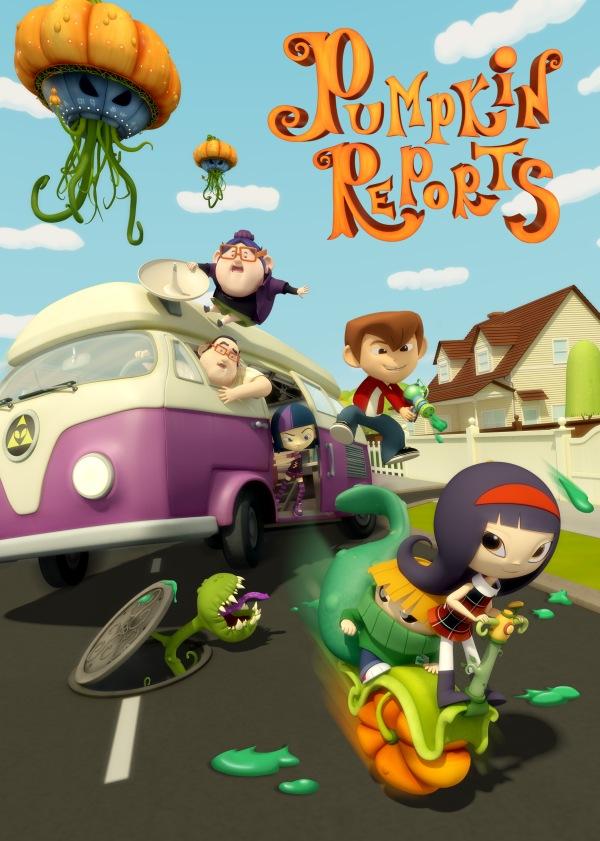 Imatge del cartell de la pel·lícula infantil Pumpkin Reports