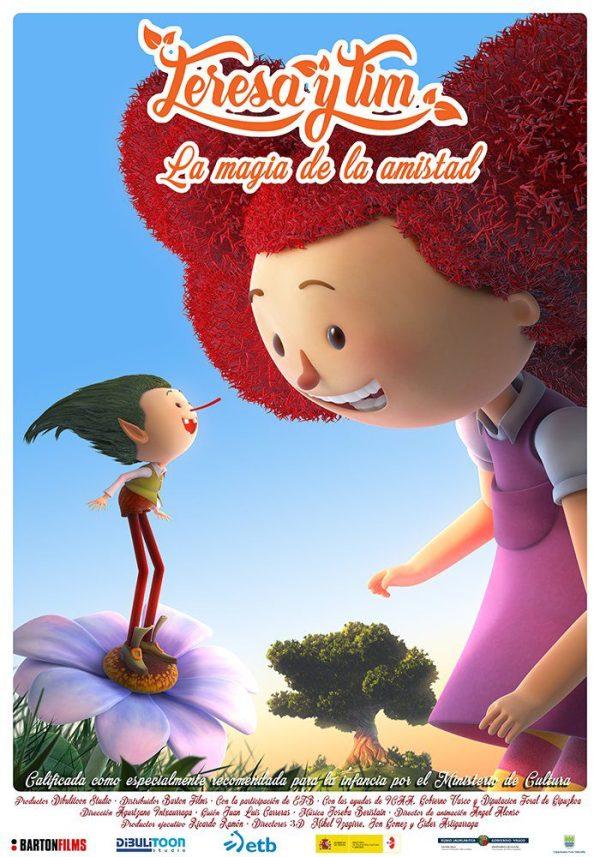 Imatge del cartell de la pel·lícula infantil Teresa y Tim. La magia de la amistad