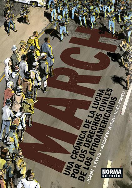 Portada del llibre March Una crónica de la lucha por los derechos civiles de los afroamericanos