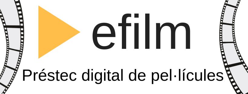 Imatge del efilm, el servei de préstec digital de pel·lícules