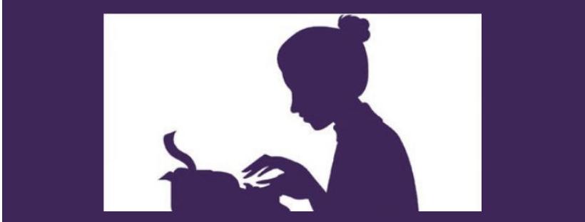 Imatge del logo del Dia de les escriptores
