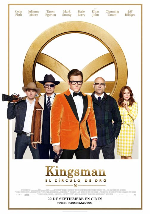 Imatge del cartell de la pel·lícula Kingsman. El círculo de oro