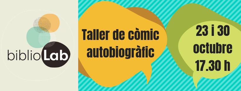 Imatge amb enllaç a l'activitat Taller de còmic autobiogràfic