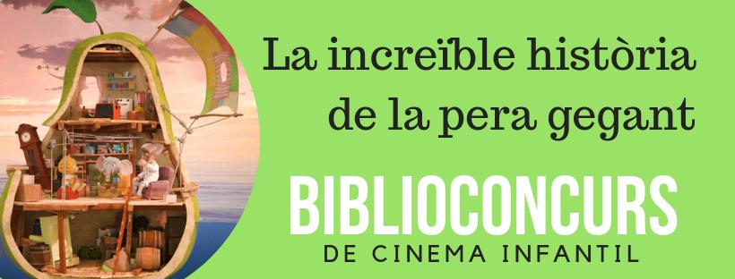 Imatge del biblioconcurs sobre la pell·lícula La increïble història de la pera gegant