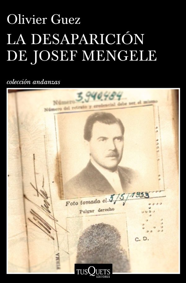 Portada del llibre La desaparición de Josef Mengele d'Olivier Guez