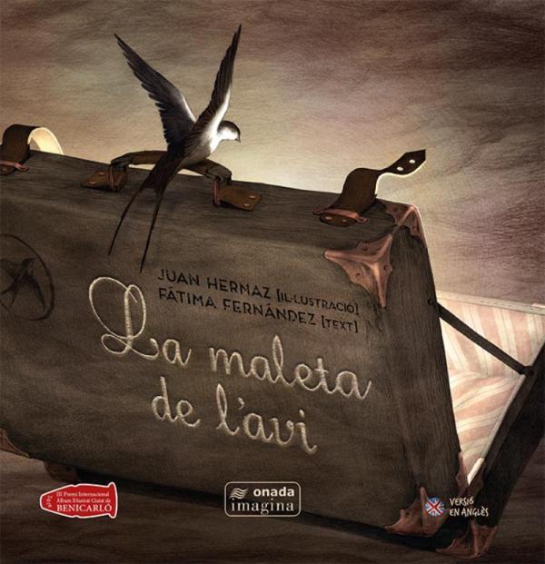 Portada del llibre infantil La maleta de l'avi de Fátima Fernández