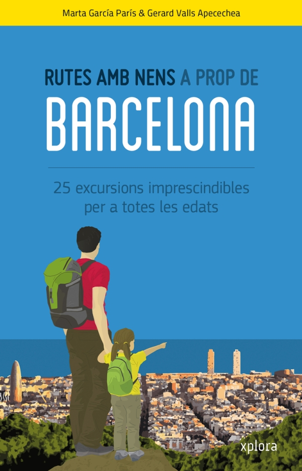 Portada del llibre infantil Rutes amb nens a prop de Barcelona