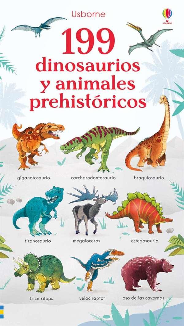 Portada del llibre infantil 199 dinosaurios y animales prehistóricos
