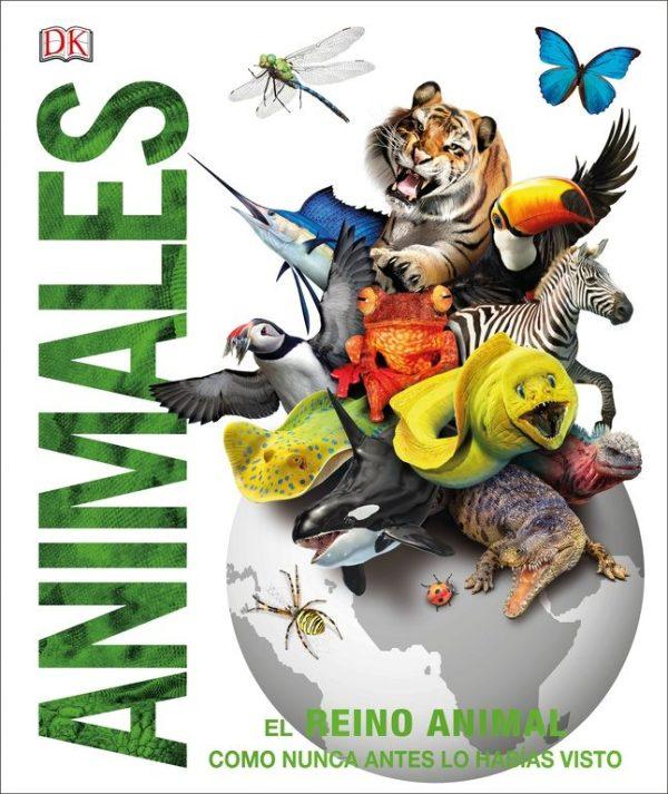 Portada del llibre infantil Animales. El reino animal como nunca antes lo has visto