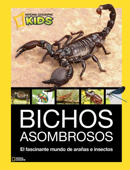 Portada del llibre infantil Bichos asombrosos. El fascinante mundo de arañas e insectos.