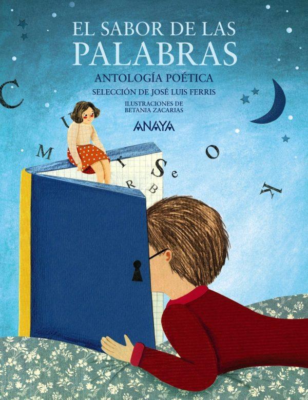 Portada del llibre infantil Antología poética El sabor de las palabras