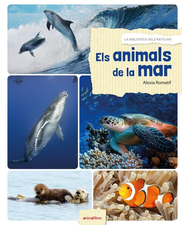 Portada del llibre infantil Els animals de la mar