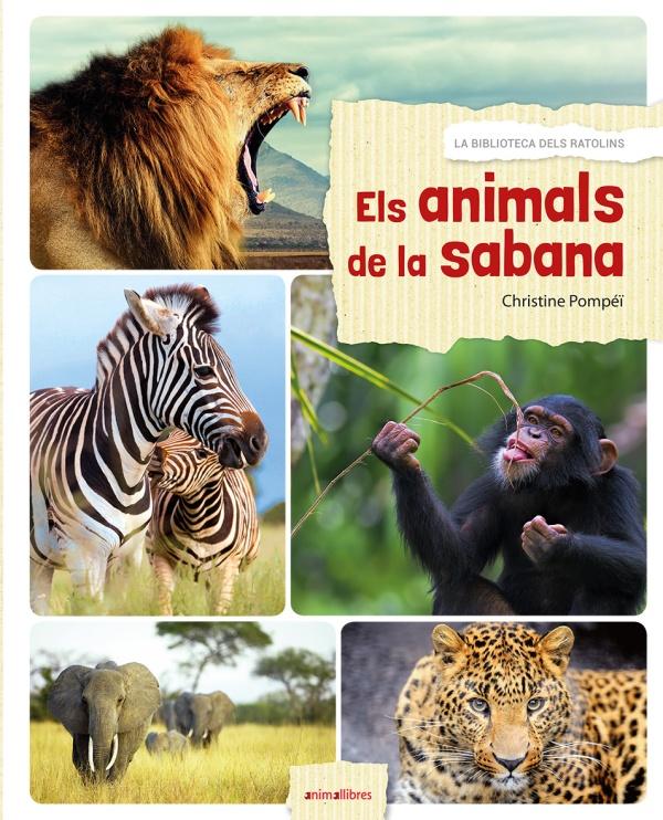 Portada del llibre infantil Els animals de la Sabana