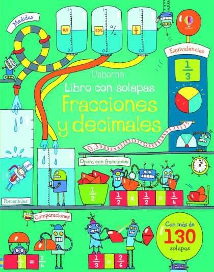 Portada del llibre infantil Libro con solapas, Fracciones y decimales