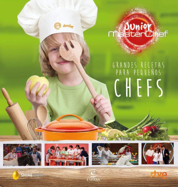 Portada del llibre infantil Grandes recetas para pequeños chefs de Master Chef Junior