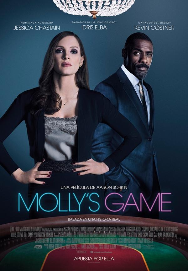Portada del DVD de la pel·lícula Molly's game