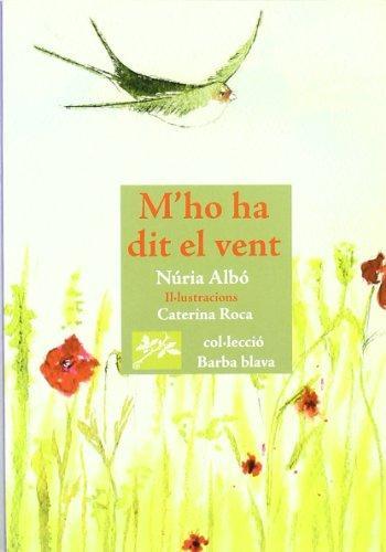 Portada del llibre de poesia infantil M'ho ha dit el vent de Núria Albó