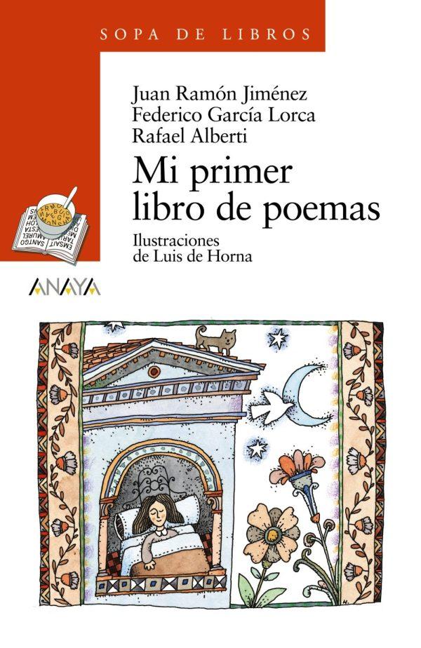 Portada del llibre infantil Mi primer libro de poemas de Juan Ramón Jiménez, Federico García Lorca y Rafael Alberti