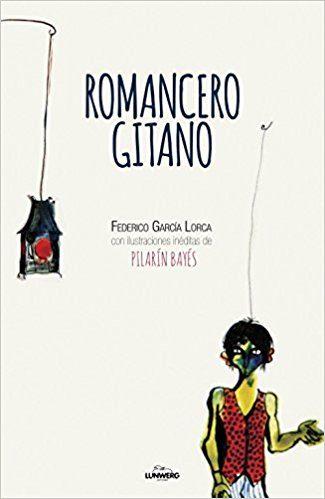 Portada del llibre infantil Romancero gitano de Federico García Lorca, il·lustrat per Pilarín Bayés