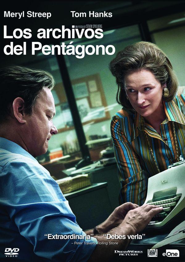 Portada del DVD de la pel·lícula Los archivos del Pentágono