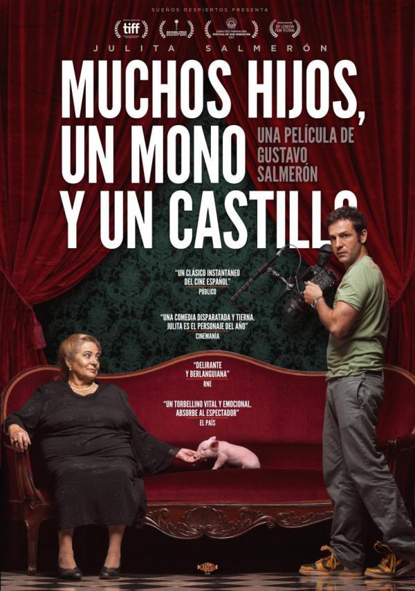 Portada del DVD de la pel·lícula Muchos hijos, un mono y un castillo