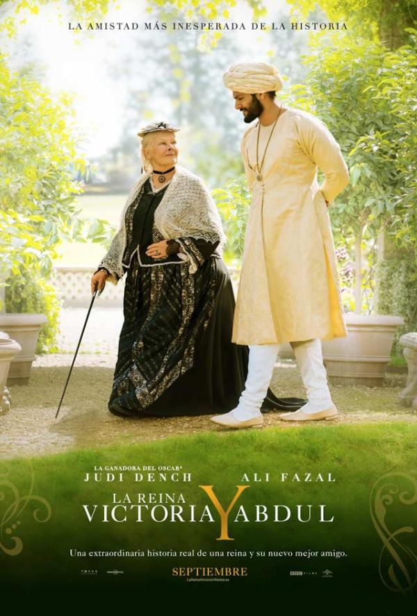Portada del DVD de la pel·lícula La reina Victoria y Abdul