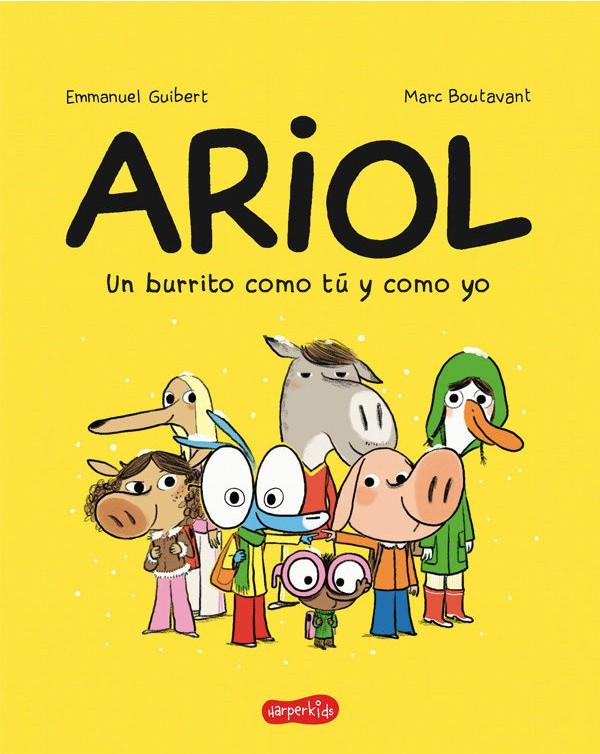 Portada del còmic infantil Ariol de'Emmanuel Guibert i Marc Boulavant