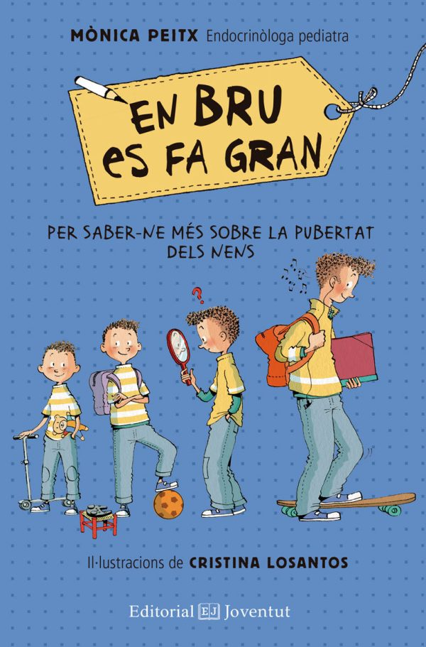 Portada del llibre infantil En Bru es fa gran de Mònica Peitx